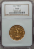 Liberty Eagles, 1853-O $10 AU55 NGC. Variety 1....