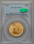 Indian Eagles, 1926 $10 MS65 PCGS. CAC....