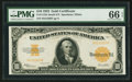 Large Size:Gold Certificates, Fr. 1173a $10 1922 Gold Certificate PMG Gem Uncirculated 66 EPQ.....