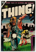 Golden Age (1938-1955):Horror, The Thing! #16 (Charlton, 1954) Condition: VG+....