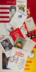 Books:Pamphlets & Tracts, Group of 13 Items of Ephemera Relating to Performing Arts.Playbills, concert programs, advertisements and press books,incl...