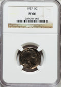 Proof Buffalo Nickels: , 1937 5C PR66 NGC. NGC Census: (489/364). PCGS Population (776/456).Mintage: 5,769. Numismedia Wsl. Price for problem free ...