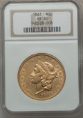 Liberty Double Eagles, Ten (10) 1861 Double Eagles, XF40 NGC.... (Total: 10 coins)
