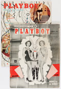 Magazines:Miscellaneous, Playboy Group with Bettie Page Centerfold (HMH Publishing,1954-55).... (Total: 2 Items)