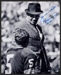 Football Collectibles:Photos, Gridiron Legends Signed Oversized Photographs Lot of 6....