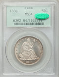 Seated Half Dollars, 1880 50C MS64 PCGS. CAC....