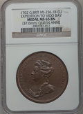 Betts Medals, Betts-97. 1702 Expedition at Vigo Bay. Copper. MS65 Brown NGC....