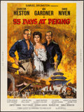 "Movie Posters:Adventure, 55 Days at Peking (Allied Artists, 1963). Poster (30"" X 40"").Adventure.. ..."