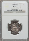 Proof Seated Quarters: , 1889 25C PR61 NGC. NGC Census: (2/129). PCGS Population (6/142).Mintage: 711. Numismedia Wsl. Price for problem free NGC/P...
