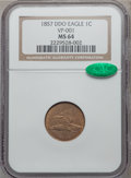 Flying Eagle Cents, 1857 1C Doubled Die Obverse MS64 NGC. CAC. Snow-4, FS-101....