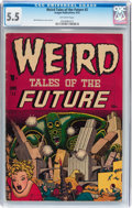 Golden Age (1938-1955):Science Fiction, Weird Tales of the Future #2 (Aragon, 1952) CGC FN- 5.5 Off-whitepages....