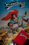 "Miscellaneous:Movie Posters, [Movie Posters]. Superman III. Lot of two one sheets (27"" x40"") and four programs. Light edgewear. Very good...."