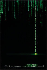 "The Matrix Revolutions (Warner Brothers, 2003). One Sheets (5) (27"" X 40"") SS Hologram Advance & DS Advanc..."