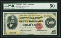 Fr. 1195 $50 1882 Gold Certificate PMG About Uncirculated 50