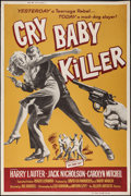 "Movie Posters:Crime, Cry Baby Killer (Allied Artists, 1958). Poster (40"" X 60""). Crime.. ..."