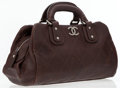 Luxury Accessories:Bags, Chanel Brown Caviar Leather Diamond Stitched Small Doctor Bag. ...