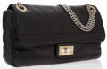 Luxury Accessories:Accessories, Chanel Black Perforated Leather Shoulder Bag. ...
