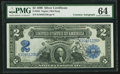 Large Size:Silver Certificates, Fr. 253 $2 1899 Silver Certificate Courtesy Autograph PMG Choice Uncirculated 64.. ...