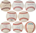 Autographs:Baseballs, Texas Rangers Greats Single Signed Baseballs Lot Of 8....