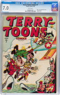 Golden Age (1938-1955):Funny Animal, Terry-Toons Comics #7 (Timely, 1943) CGC FN/VF 7.0 White pages....