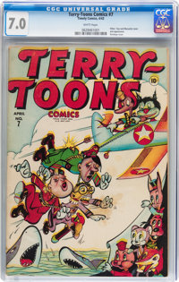 Terry-Toons Comics #7 (Timely, 1943) CGC FN/VF 7.0 White pages