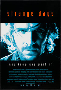 """Strange Days (20th Century Fox, 1995). One Sheets (2) (27"""" X 40"""") DS Advance Red & Blue Styles. Action..."""