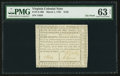 Colonial Notes:Virginia, Virginia March 1, 1781 $150 PMG Choice Uncirculated 63 Net.. ...