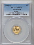Australia, 2014-P G$5 Year of the Horse MS70 PCGS. PCGS Population (0). NGCCensus: (0)....