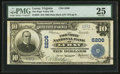 National Bank Notes:Virginia, Luray, VA - $10 1902 Plain Back Fr. 635 The Page Valley NB Ch. #6206. ...