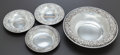 Silver Holloware, American:Bowls, THREE KIRK & SON SILVER REPOUSSÉ BOWLS . Samuel Kirk & Son,Baltimore, Maryland, circa 1900. Marks to largest: KIRK &SON,... (Total: 4 Items)