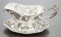Silver Holloware, American:Sauce Boats, A KERR SILVER GRAVY BOAT AND UNDER PLATE . Wm. B. Kerr & Co,Newark, New Jersey, circa 1900. Marks: (fasces), STERLING, 63...(Total: 2 Items)