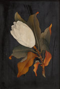Decorative Arts, Continental, AN ITALIAN PIETRA DURA FLOWER PLAQUE. Circa 1900. 9 inches high x6-1/4 inches wide (22.9 x 15.9 cm). ...