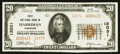 National Bank Notes:Tennessee, Harriman, TN - $20 1929 Ty. 2 The First NB Ch. # 12031. ...