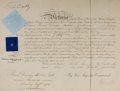 """Autographs:Non-American, Queen Victoria of England Military Appointment Signed. Onepartially-printed page, 15.5"""" x 12"""", """"Court at St. James'[London..."""