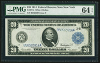 Fr. 971b $20 1914 Federal Reserve Note PMG Choice Uncirculated 64 EPQ