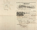 "Autographs:Statesmen, Thomas McKean Military Appointment Signed ""Tho M:Kean"" asgovernor of Pennsylvania. One partially-printed page, 15.5"" x ..."