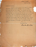 "Autographs:Authors, American Author Winston Churchill Typed Letter Signed. One page, 8.5"" x 11"", Windsor [Vermont], August 2, 1924, in response ..."