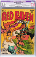 Golden Age (1938-1955):Superhero, Red Raven Comics #1 (Timely, 1940) CGC Apparent VG/FN 5.0 Slight (A) Cream to off-white pages....
