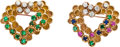 Estate Jewelry:Brooches - Pins, Multi-Stone, Diamond, Gold Brooches, Union Carbide. ...