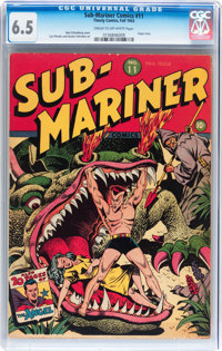 Sub-Mariner Comics #11 (Timely, 1943) CGC FN+ 6.5 Cream to off-white pages
