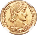Ancients:Roman Imperial, Ancients: Constantius II (AD 337-361). AV solidus (21mm, 4.51 gm, 11h). ...