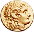 Ancients:Greek, Ancients: THRACIAN KINGDOM. Lysimachus (323-281 BC). AV stater (18mm, 8.52 gm, 12h). ...