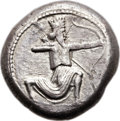Ancients:Greek, Ancients: CARIA. Achaemenid Period. Ca. 341-334 BC. AR tetradrachm (24mm, 15.11 gm, 5h)....