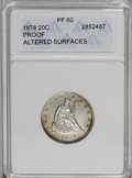 Proof Twenty Cent Pieces: , 1878 20C --Altered Surfaces--PR60 ANACS. The right obverse field displays horizontal hairlines, and the obverse also has a m...