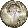 Washington Quarters: , 1932-S 25C MS64 PCGS. Bright, lustrous surfaces display streaks ofrusset-brown patination that gravitate to the borders. T...