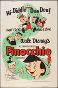 "Movie Posters:Animation, Pinocchio & Other Lot (Buena Vista, R-1962). Posters (2) (40"" X 60""). Animation.. ... (Total: 2 Items)"