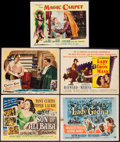 """Movie Posters:Fantasy, Son of Ali Baba & Others Lot (Universal International, 1952).Title Lobby Cards (3), Lobby Cards (2) (11"""" X 14""""). Fantasy.. ...(Total: 5 Items)"""