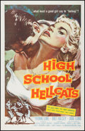 "Movie Posters:Exploitation, High School Hellcats (American International, 1958). One Sheet (27""X 41""). Exploitation.. ..."