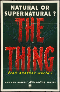 """The Thing from Another World (RKO, 1951). One Sheet (27"""" X 41""""). Science Fiction"""