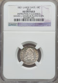 Bust Dimes, 1821 10C Large Date -- Improperly Cleaned -- NGC Details. AU. JR-4.This is the plate coin in the JR reference, Ear...